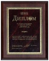 Диплом результаты работы в 2000 г.